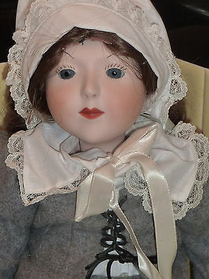 "Vtg 1980 Antique Reproduction Porcelain Bisque Doll 19"" SES SCD Ball Jointed"