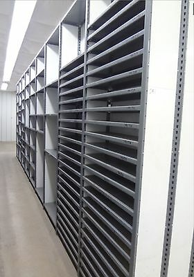 "Equipto Closed V-Clip Smooth Gray 10 ft Shelving/ Racking, 36"" W, 12"" Depth"
