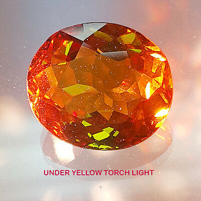 10.20 Ct BEAUTIFUL COLOR CHANGE GREEN TO RED OVAL SHAPE LAB CREATED DIASPORE