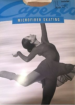 NEW Capezio Microfiber Over The Boot Skating Tights #1812 Adult Large NUDE AL