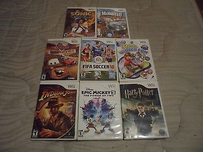 Nintendo Wii Game Lot Eight (8) Games