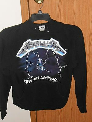 Metallica Ride The Lightning Hoodie Sweatshirt Adult Small