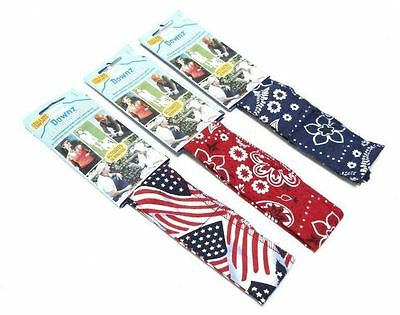 New Bandana Hot Head Comfort Cool Wrap, Scarf & Neck Coolers - Pink, Red & Flag