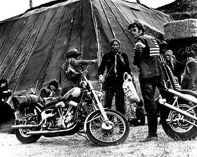PETER FONDA EASY RIDER MOTORCYCLE bw photo from movie B108