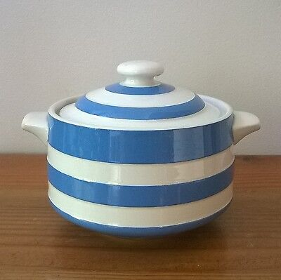 Vintage T.G.Green Cornish ware Blue and White Sugar Bowl with Lid