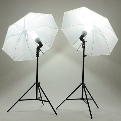 Photography Photo Studio 2X135W Umbrella Continuous Lighting Kit Light Stand