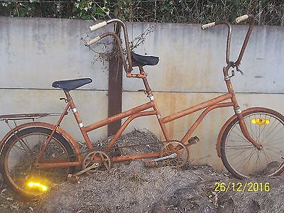 very rare tandem bicycle,sydney harbour