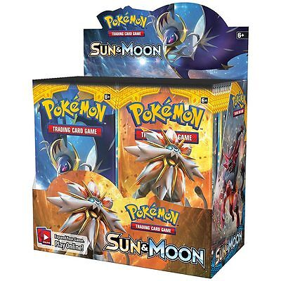 Pokemon Sun & Moon Sealed Booster Box 36 Packs - Sun and Moon Trading Cards 2017