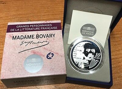 France 2013 Madame Bovary 10 euro Silver Proof - Francia € silber argent