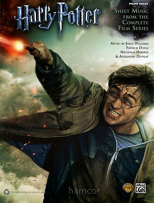Harry Potter Piano Solos Sheet Music from the Complete Film Series 1-8 Book