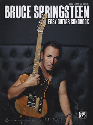 Bruce Springsteen Easy Guitar Songbook TAB Melody & Chord Music Book