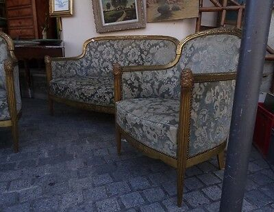 french art deco Maurice Dufrene att lounge suite chairs armchairs sofa