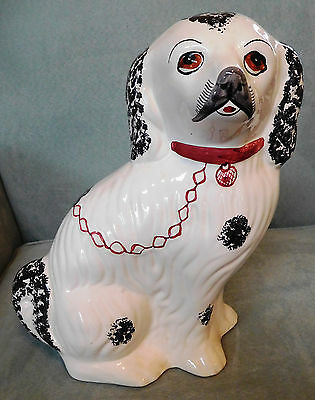 "Large Porcelain SPANIEL DOG RC&CL 468-L 11.5"" Tall Portugual HP Jay Willfred"