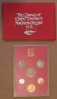 1973 Royal Mint - Coinage Of Great Britain & Northern Ireland - Proof Set