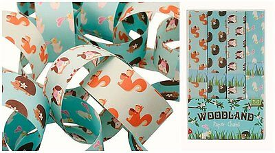 Woodland Forest Owl Squirrel Paper Chains Childrens Animal Decoration 10m