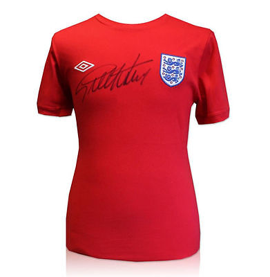 Geoff Hurst 1966 World Cup Winner England Signed Shirt 100% Genuine With Coa