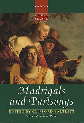 Madrigals and Partsongs Oxford Choral Classics SATB Sheet Music Book Classical