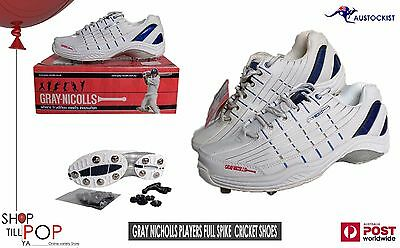 Gray Nicholls Full Player Spike Cricket Shoes  + Spikes (spares) BNIB US 9 Mens