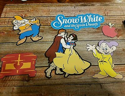Disney's Snow white and the Seven dwarfs printed scrapbook page die cut  #3