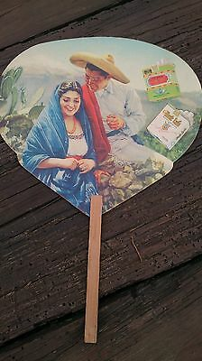 1940s or 50s BOHEMIOS AND MONTE CARLO MEXICAN CIGARRETES ADVERTISING PAPER FAN