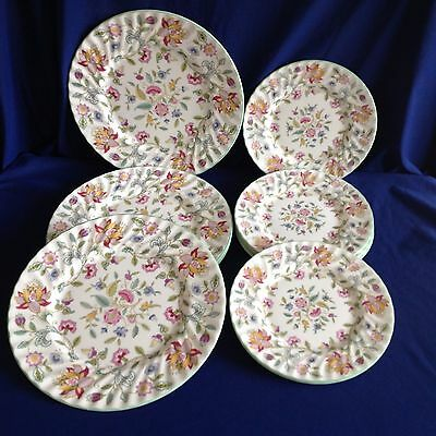 """MINTON Porcelain/China-Hadden Hall 8"""" & 10 3/4"""" Side and Dinner Plates"""