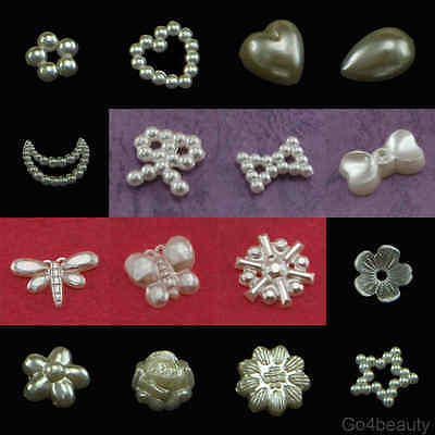 Selection of Pearlized Beads Scrapbook Craft Material (Acrylic Plastic)