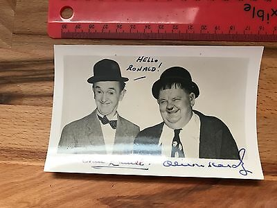 GENUINE Stan Laurel And Oliver Hardy Signed photograph/ Autograph