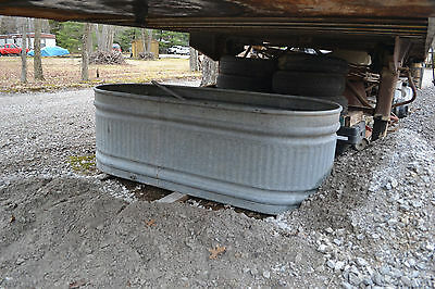 Country Galvanized Round End oval Water Tank Feed Trough Horse Farm Cattle