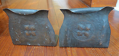 Nice Arts & Crafts Hand Made Copper Bookends