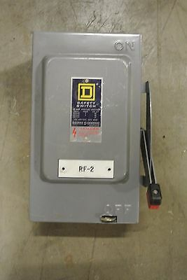 Square D HU361 30 amp 600 volt non fused indoor safety switch E1