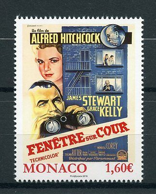 Monaco 2016 MNH Grace Kelly Movies Rear Window Posters 1v Set Hitchcock Stamps