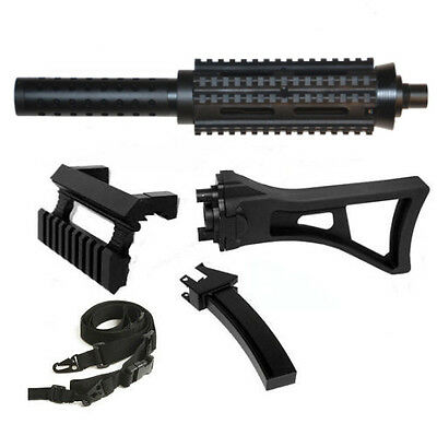 1913 Style Barrel+Holographic Sight +Stock+Sling.Fits Tippmann A5 Clasic Model