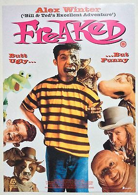 Freaked / Original Vintage Video Film Poster / Alex Winter 3