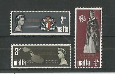Malta 1967 Royal Visit Sg,396-398 Um/m Nh Lot 2375A