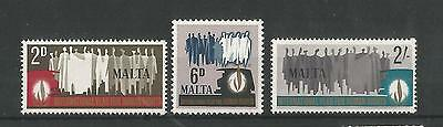 Malta 1968 Human Rights Year Sg,399-401 Um/m Nh Lot 2376A