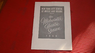 Vintage Theater Guidenyc Cntr Of Music & Drama The Midwinter Theatre Season 1956