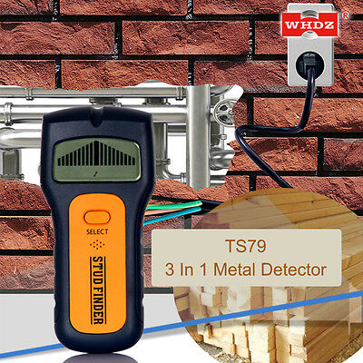 3in1 LCD Intelligent Stud Scanner AC Wire Finder Wood Metal Detector Wall BI454