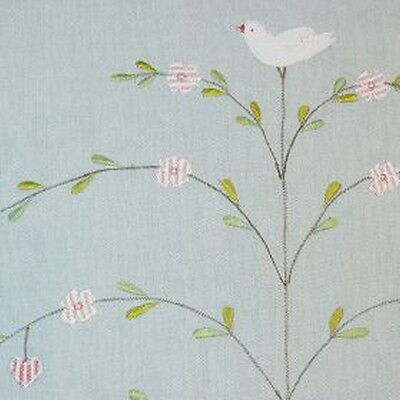 Susie Watson Designs - Butterfly Tree - Duck Egg - Fabric Remnant - 208cm x 95cm