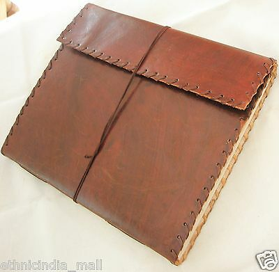 EXTRA LARGE Handmade Paper Classic Leather Bound Sketchbook Journal Blank Diary