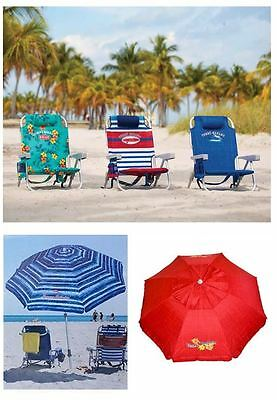 Tommy Bahama 2017 COMBO PACK - 1 Umbrella + 2 Beach Chairs (VARIOUS COLORS)