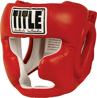 Title Boxing Full Face Training Headgear - Red