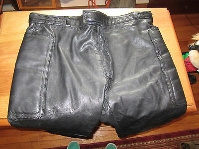 Mens Motorcycle Thick Leather Pants By Drag Specialties Size 40 L30