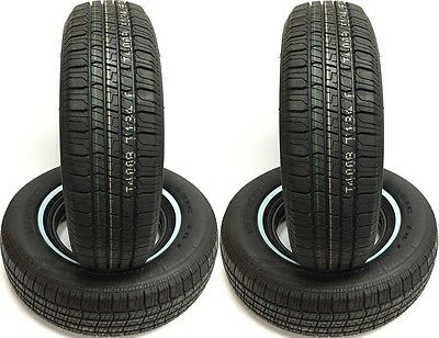 (4) FOUR P215/75R15 Classic 787 VERCELLI White Wall SET OF TIRES 215 75 15
