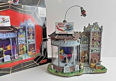 Lemax Spooky Town Wicked Fast Broomsticks Musical Animated Lighted Building