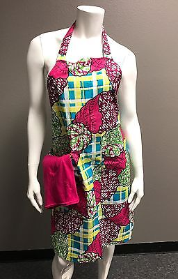 Kamto Collections African Print Ankara Designed Apron with Pockets