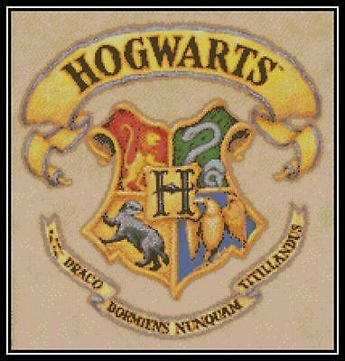 Hogwarts Crest - Cross Stitch Chart/Pattern/Design/XStitch