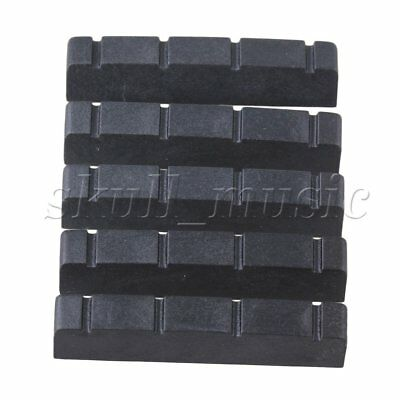 5pcs Black PPS Plastic Slotted Nut for Bass Guitar 42x9x6mm BQLZR