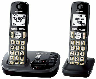 Panasonic KX-TGD222M DECT 6.0 Cordless Phone with Answering Machine - 2 Handsets