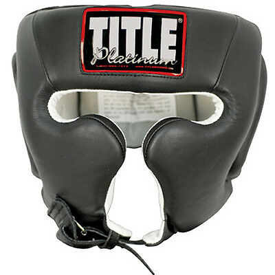 Title Boxing Platinum Training Headgear - Black