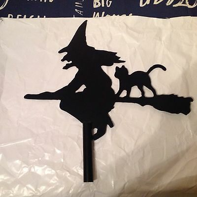Witch Weathervane And Cat, Top Only, Spare Or Replacement, New Unused.